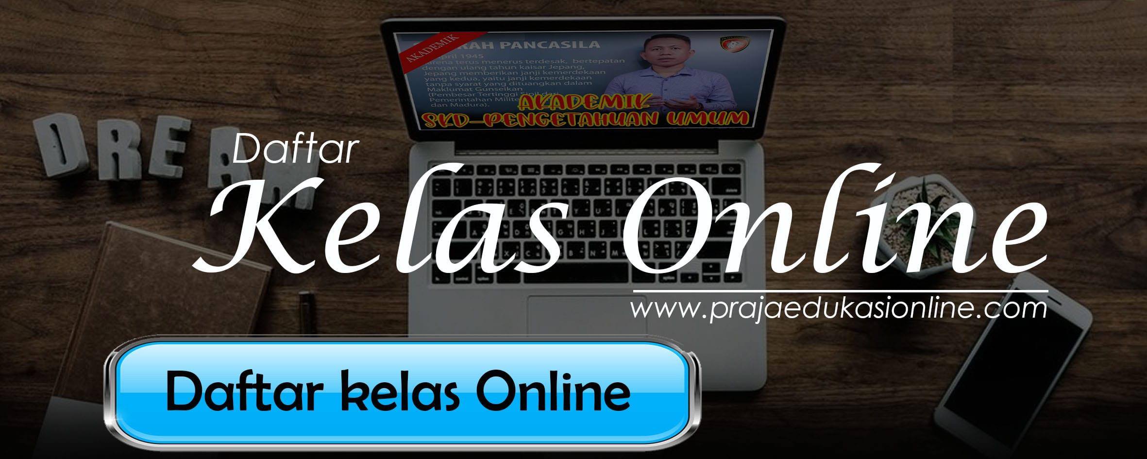 daftar kelas online praja edukasi